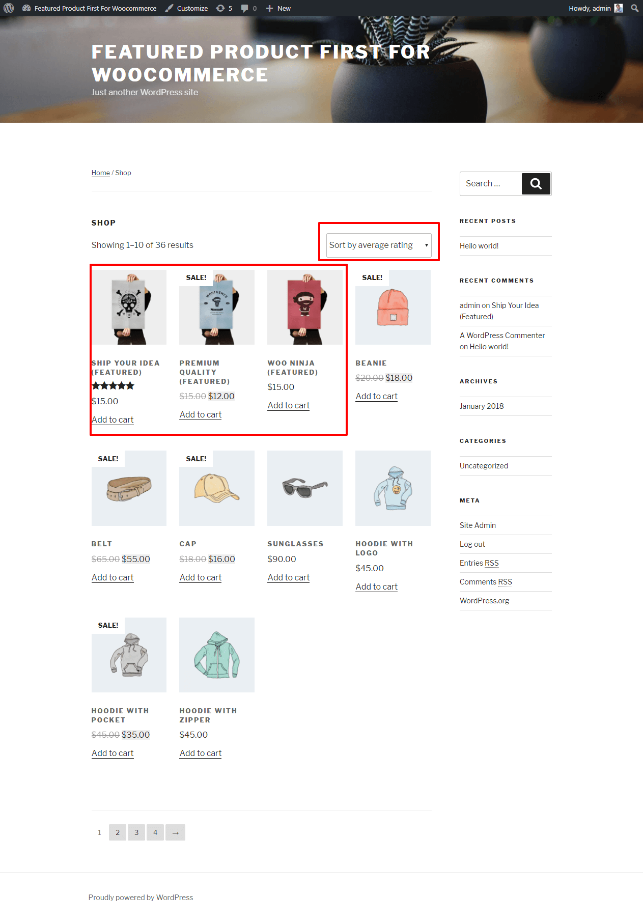 featured-products-first-for-woocommerce screenshot 3