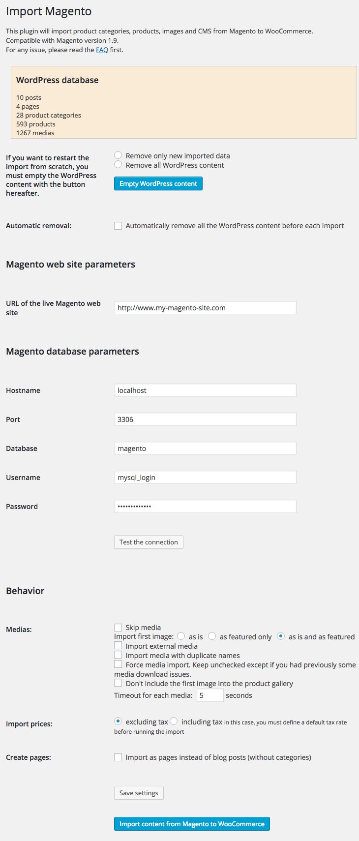 fg-magento-to-woocommerce screenshot 1