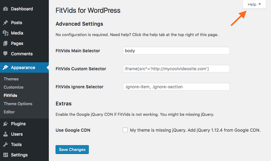 fitvids-for-wordpress screenshot 1