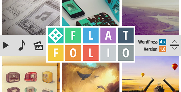 flatfolio-flat-cool-wp-portfolio screenshot 1