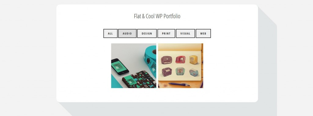 flatfolio-flat-cool-wp-portfolio screenshot 2
