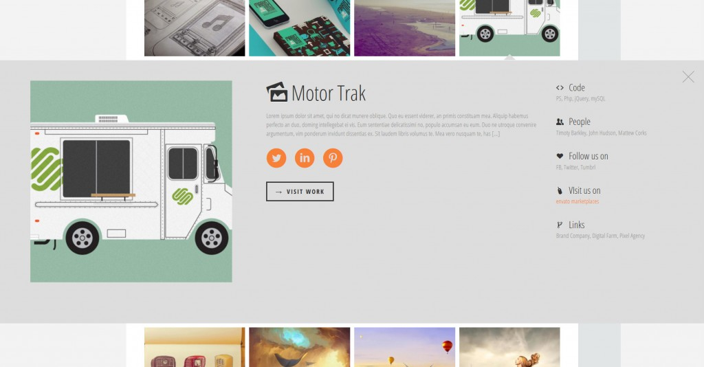 flatfolio-flat-cool-wp-portfolio screenshot 4