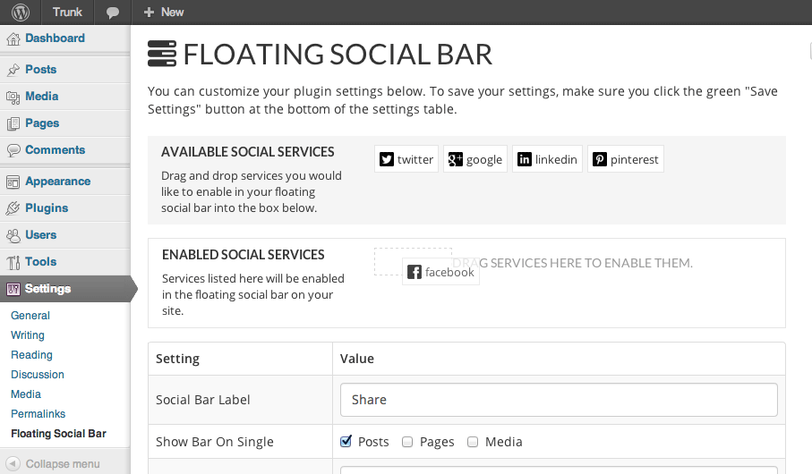 floating-social-bar screenshot 2