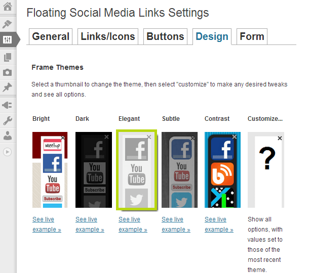 floating-social-media-links screenshot 2