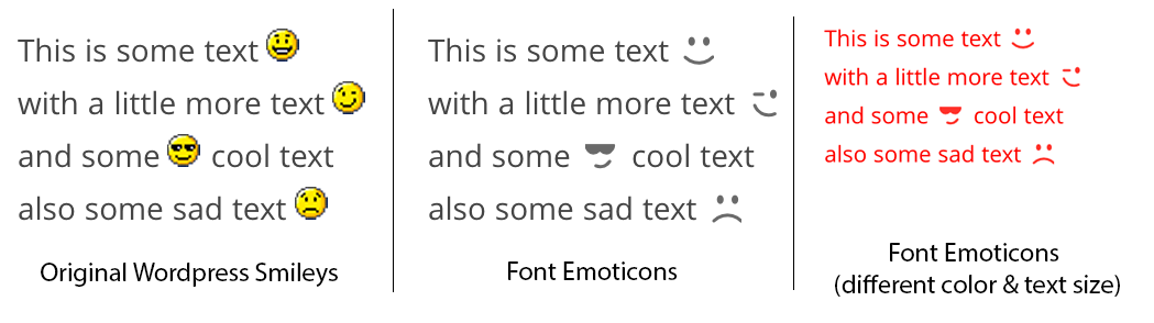 font-emoticons screenshot 2