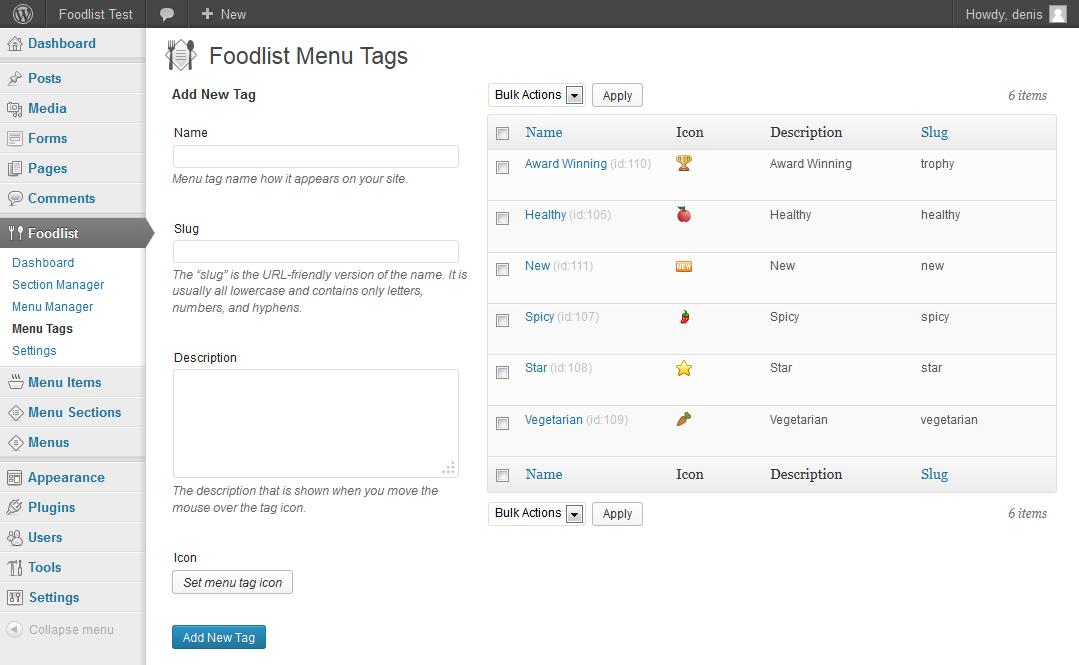 foodlist screenshot 3