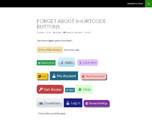 forget-about-shortcode-buttons screenshot 4