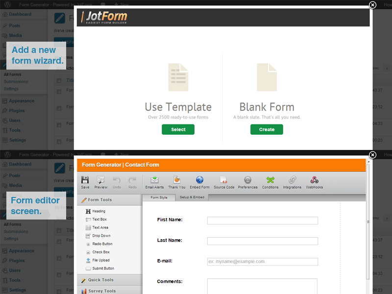form-generator-powered-by-jotform screenshot 5