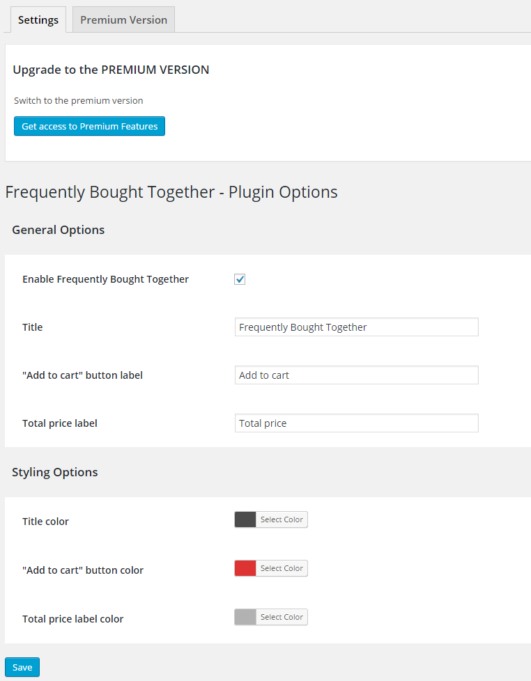 frequently-bought-together-for-woocommerce screenshot 1