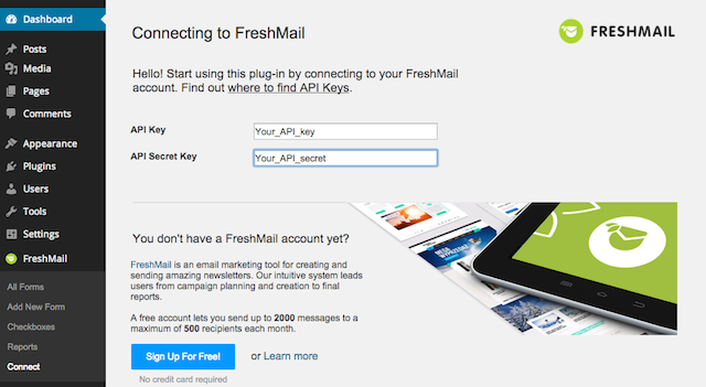 freshmail-integration screenshot 3