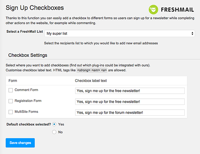 freshmail-integration screenshot 5