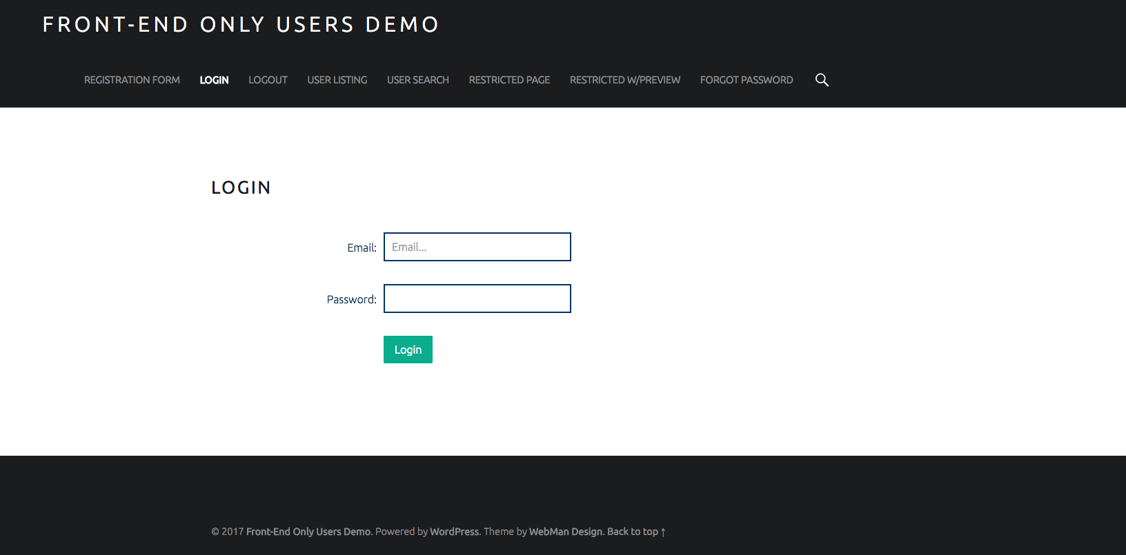 front-end-only-users screenshot 2
