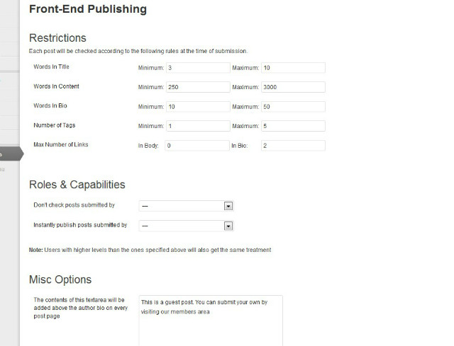 front-end-publishing screenshot 1
