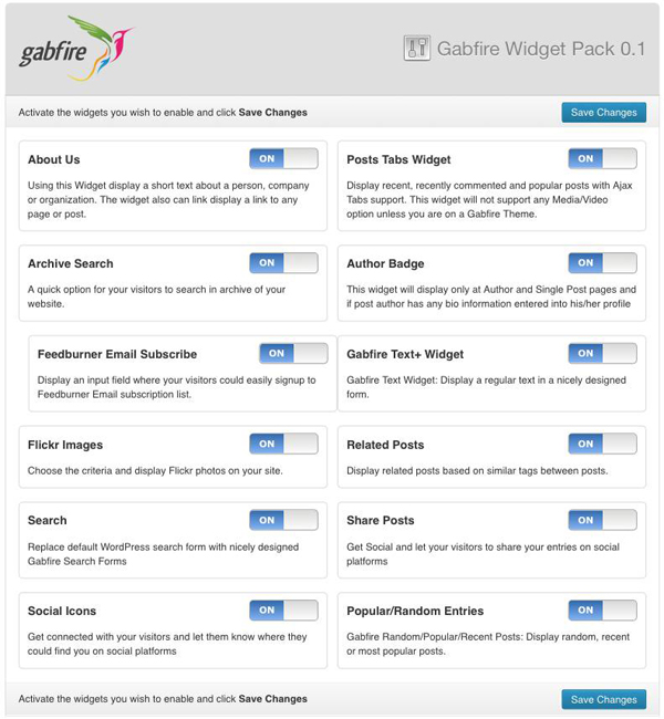 gabfire-widget-pack screenshot 7