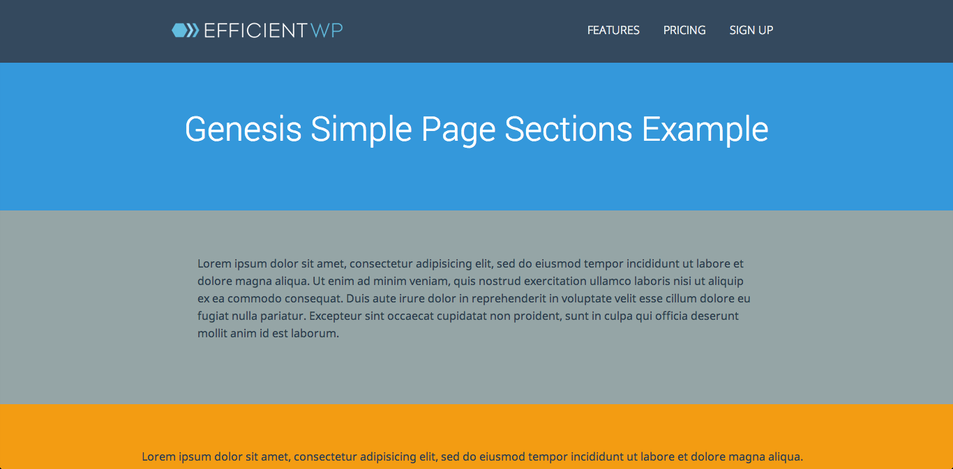 genesis-simple-page-sections screenshot 1