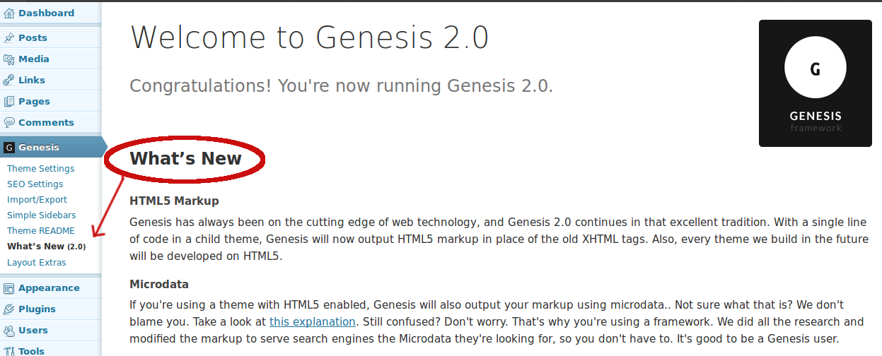 genesis-whats-new-info screenshot 1