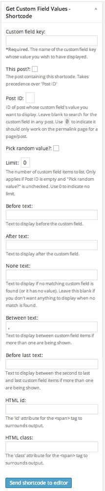 get-custom-field-values screenshot 2