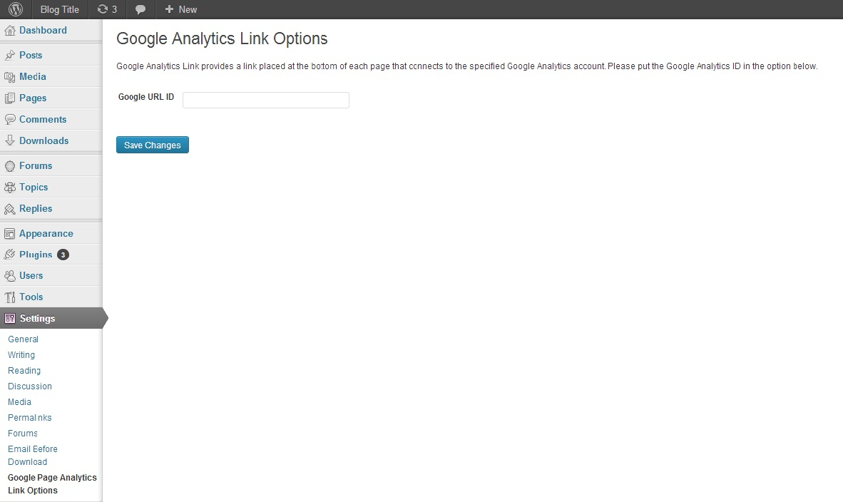 google-analytics-link screenshot 1