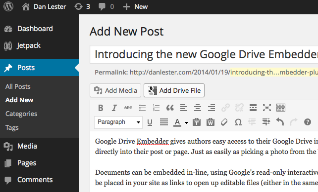 google-drive-embedder screenshot 1
