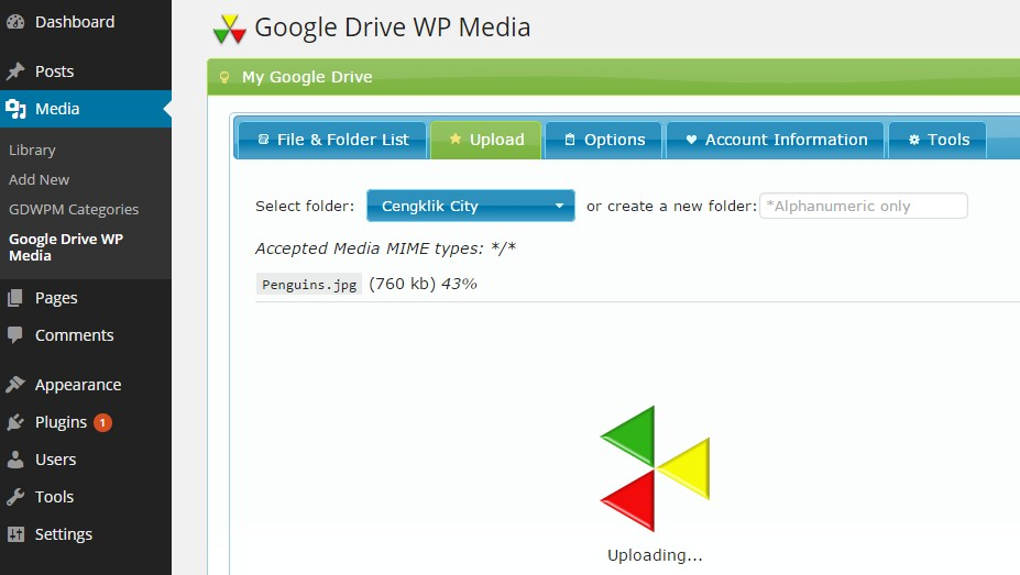 google-drive-wp-media screenshot 3