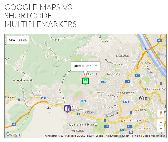 google-maps-v3-shortcode-multiple-markers screenshot 1
