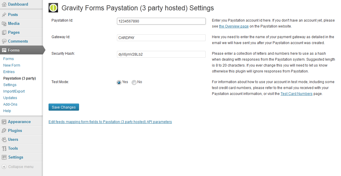gravity-forms-paystation-3-party-hosted screenshot 1