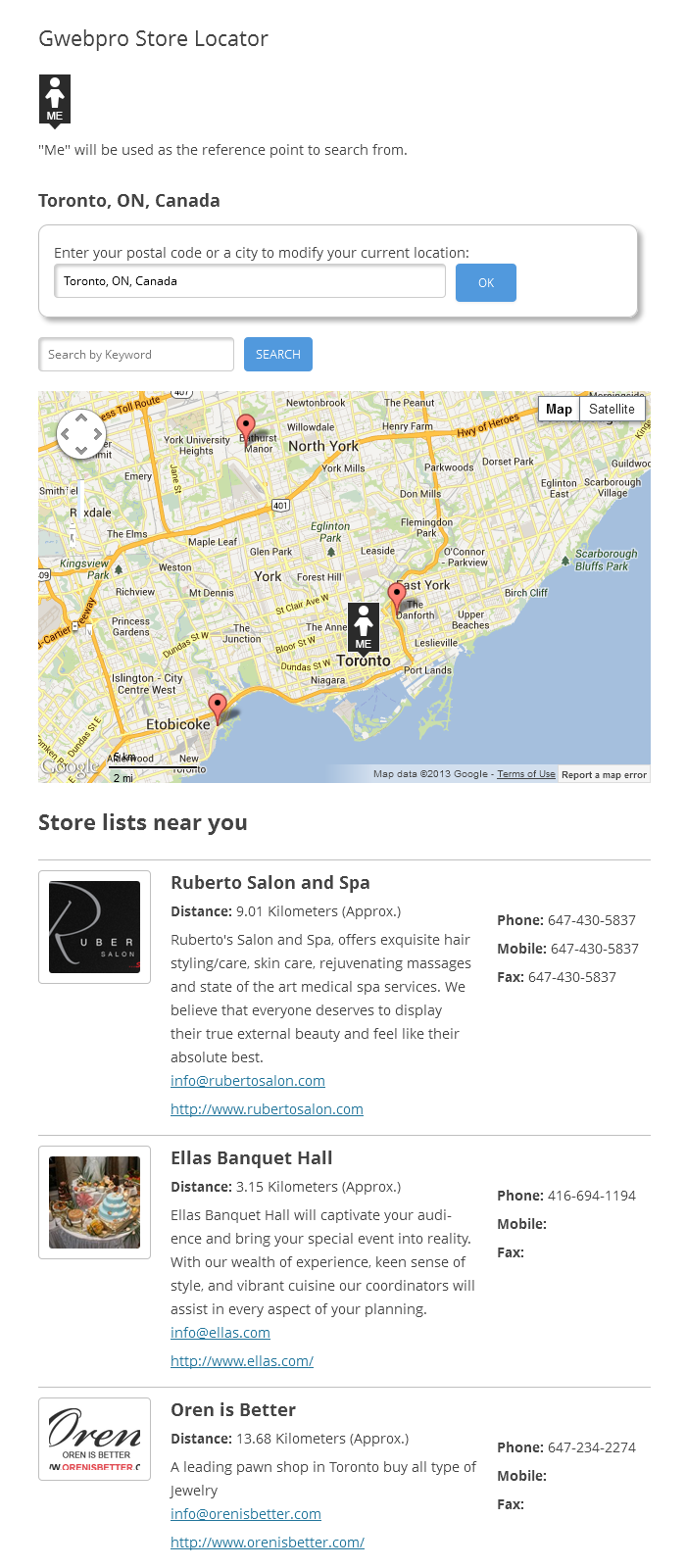 gwebpro-store-locator screenshot 1