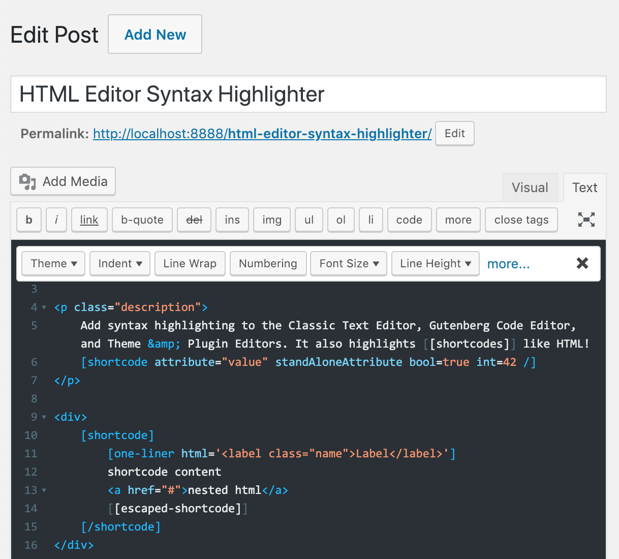 html-editor-syntax-highlighter screenshot 2