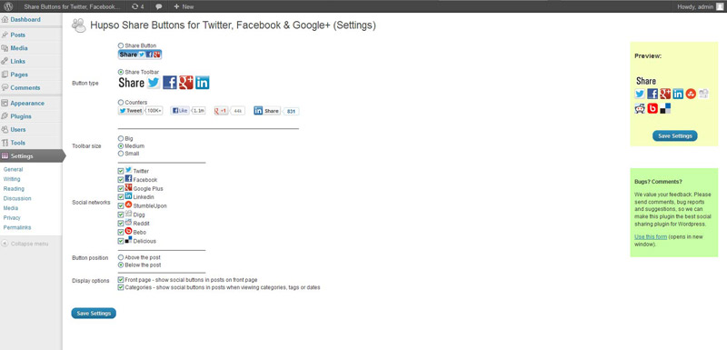 hupso-share-buttons-for-twitter-facebook-google screenshot 6