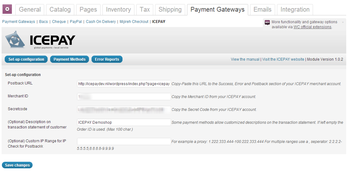 icepay-woocommerce-online-payment-module screenshot 1