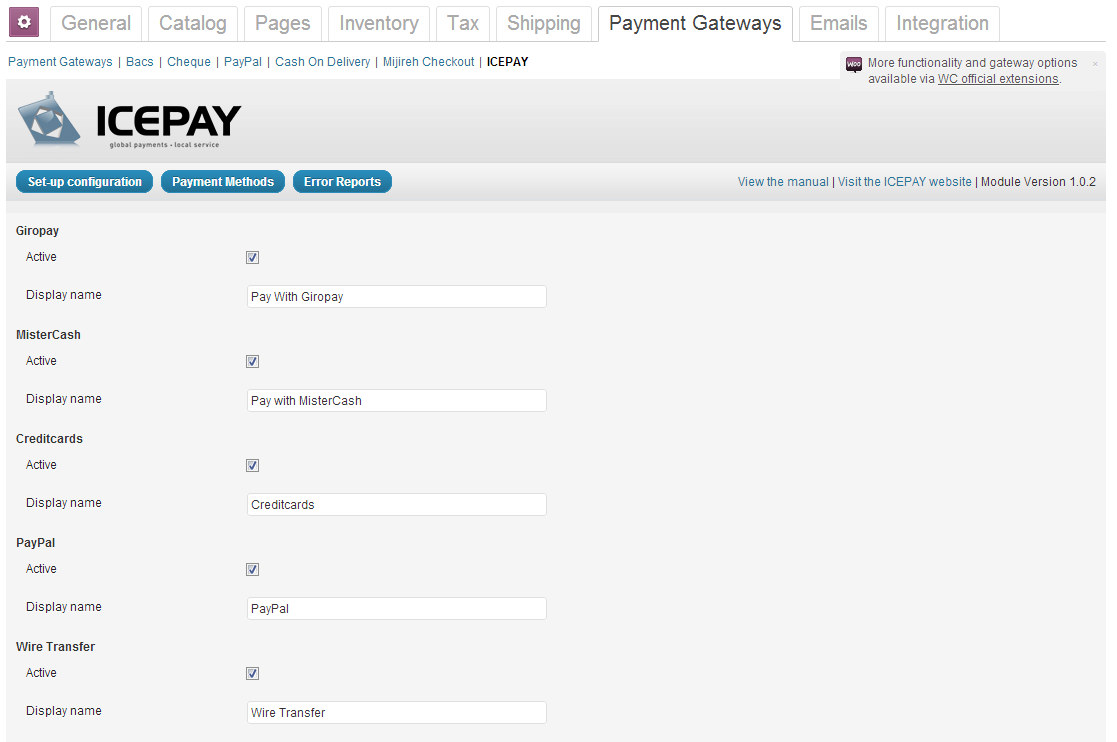 icepay-woocommerce-online-payment-module screenshot 2