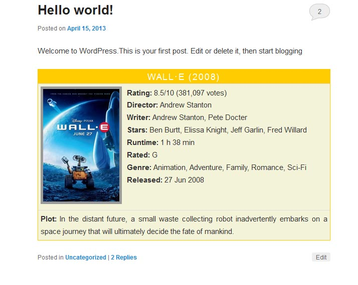 imdb-info-box screenshot 1