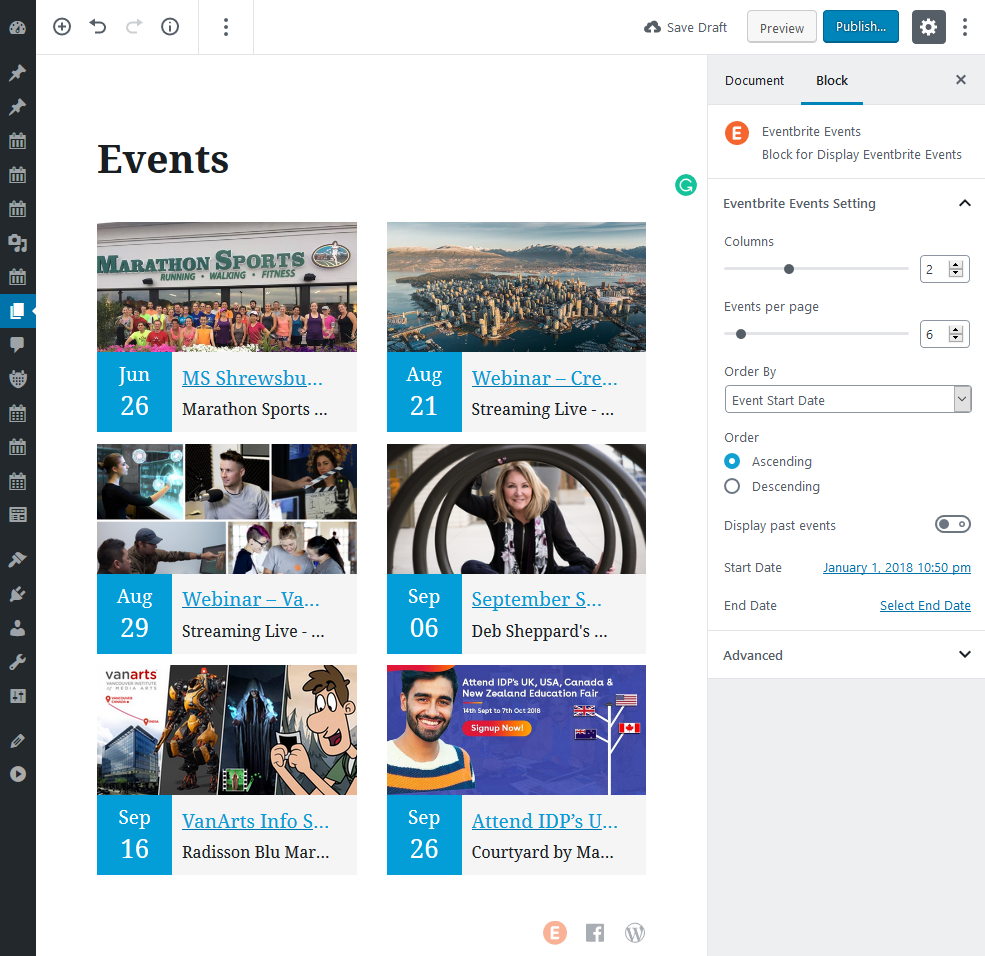 import-eventbrite-events screenshot 3
