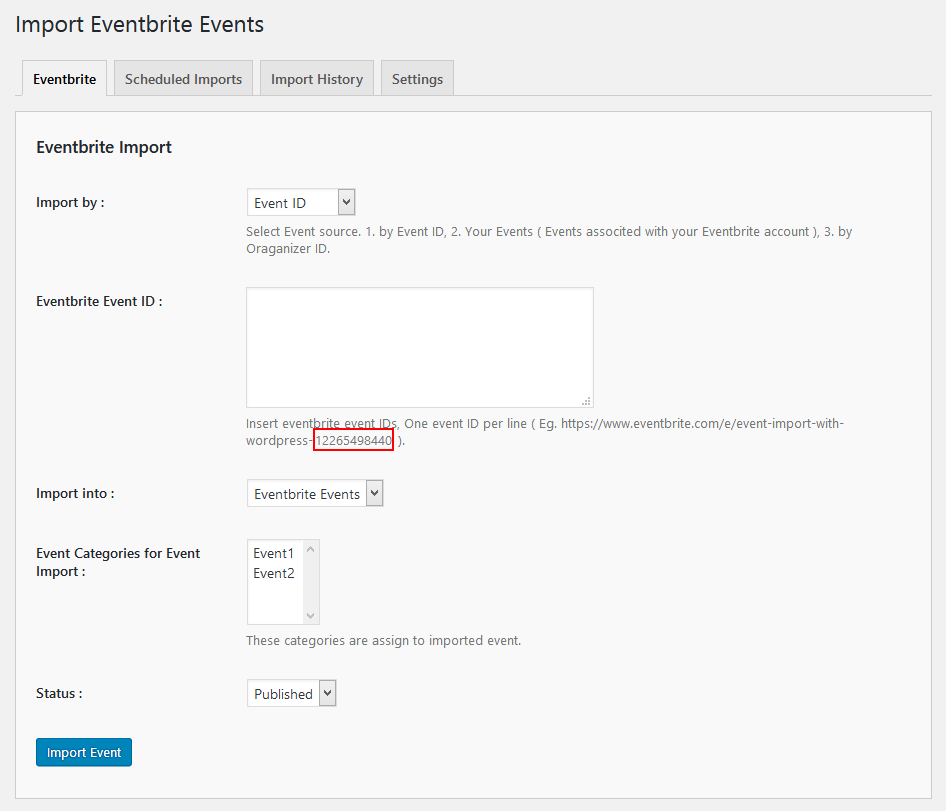 import-eventbrite-events screenshot 4