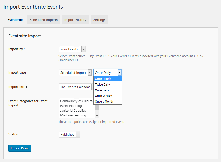 import-eventbrite-events screenshot 5