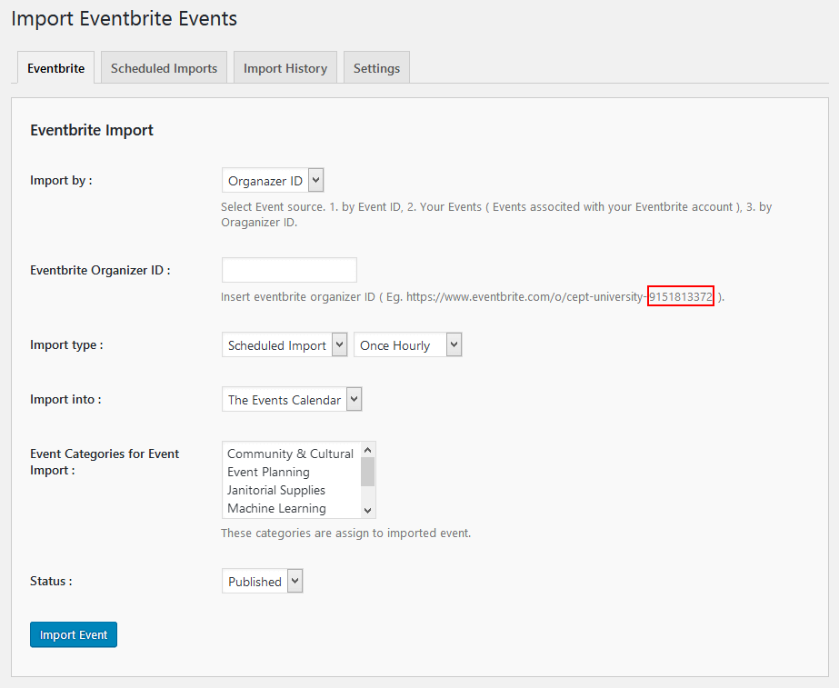 import-eventbrite-events screenshot 6