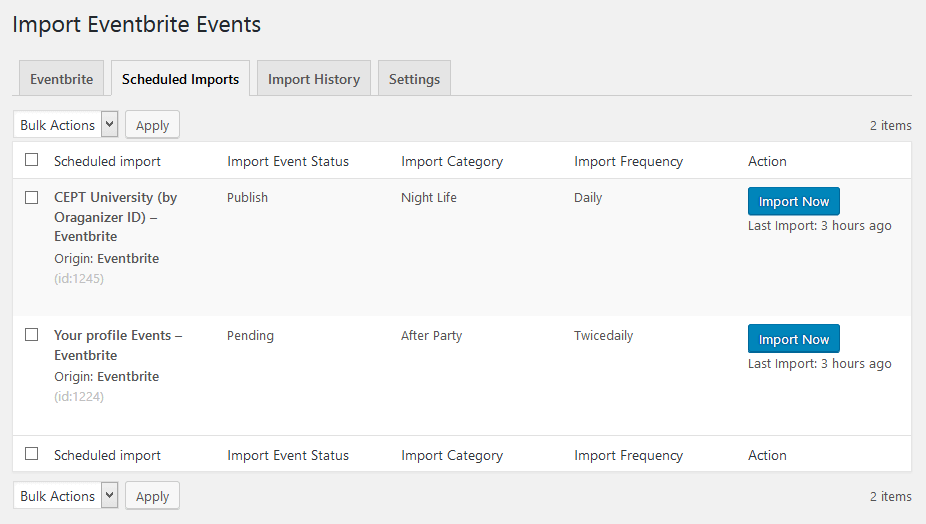 import-eventbrite-events screenshot 7