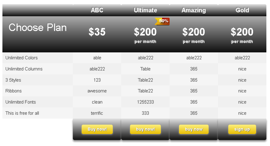 ind-css3-pricing-table screenshot 2