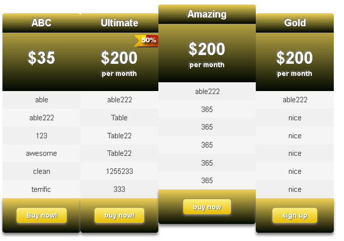 ind-css3-pricing-table screenshot 3