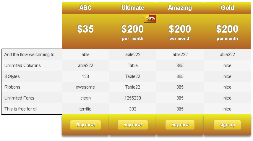 ind-css3-pricing-table screenshot 4