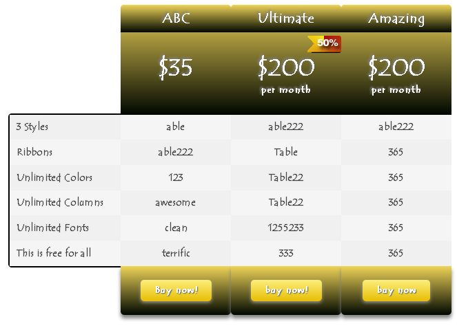 ind-css3-pricing-table screenshot 6