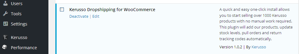 kerusso-dropshipping-for-woocommerce screenshot 3