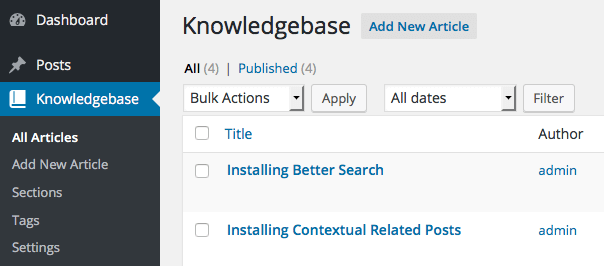 knowledgebase screenshot 1