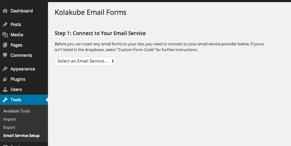 kolakube-email-forms screenshot 1