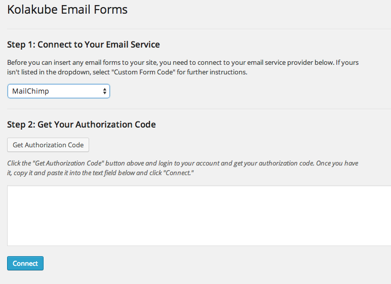 kolakube-email-forms screenshot 2