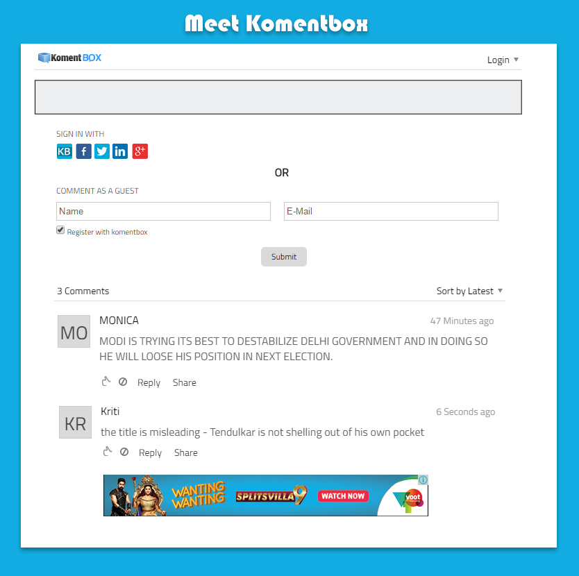 kommentbox screenshot 1