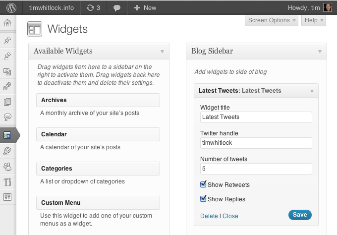 latest-tweets-widget screenshot 1