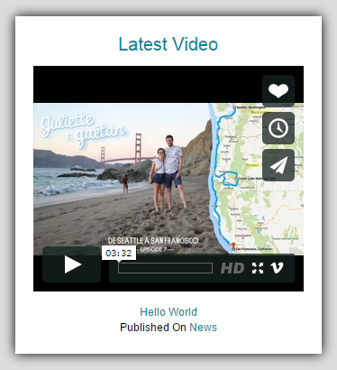 latest-video-post-widget screenshot 2