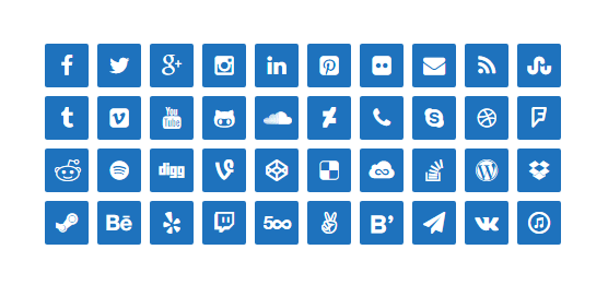 lightweight-social-icons screenshot 2