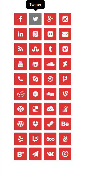 lightweight-social-icons screenshot 3